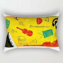 Music and Noise Rectangular Pillow