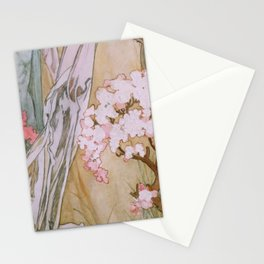 Pattern from Maud Adams Jeanne d'Arc 1909 by Alphonse Mucha Stationery Cards