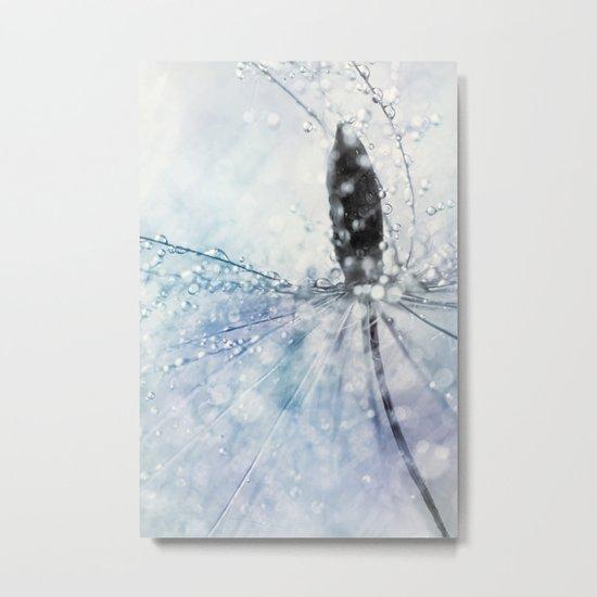 Fairy Baby Blue Metal Print
