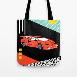 Wicked - sports car 80s retro throwback memphis style motorhead Tote Bag