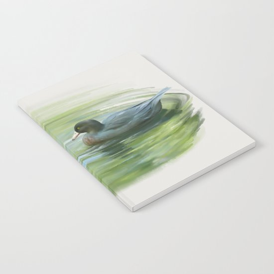 Blue Ducks in pond Notebook