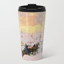 Boris Kustodiev - Pancake Week 1916 Travel Mug