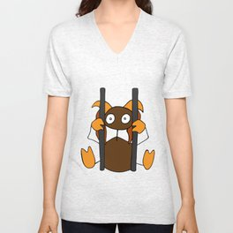 Poor chained thing Unisex V-Neck