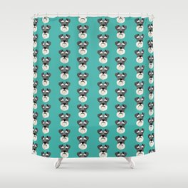 Schnauzers dog head cute pet friendly gifts for dog person with schnauzer Shower Curtain