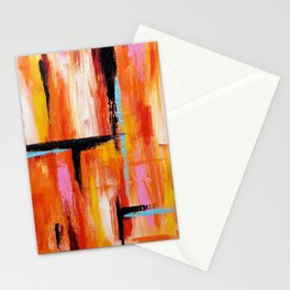 Abstract Orange 2 Stationery Cards