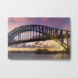 Sydney Harbor Bridge at sunset Metal Print