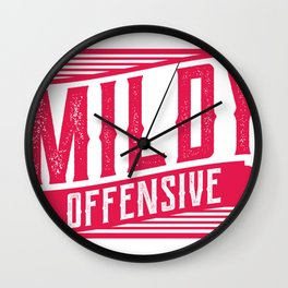 Mildy Offensive Funny Mechanic Office Gift Wall Clock