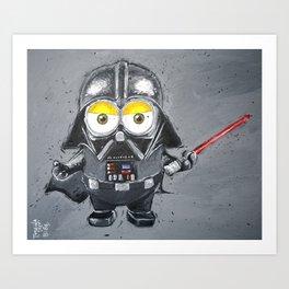 Darth Vader minion style Art Print