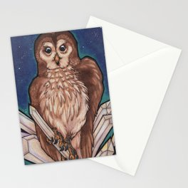 Owl & Crystals Stationery Cards