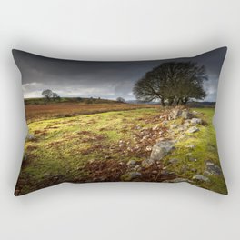 Approaching storm over Brecon, South Wales UK Rectangular Pillow