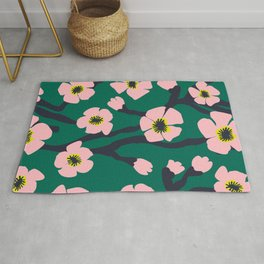 Pink Blooms Everywhere No 01 Rug