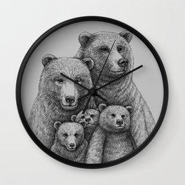 Family photo (mr. Bear) Wall Clock