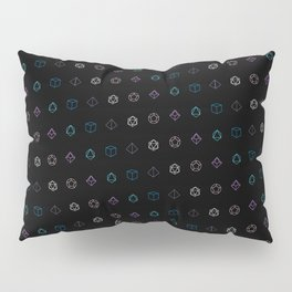 Dungeons and Dragons Aesthetic Dice Pillow Sham