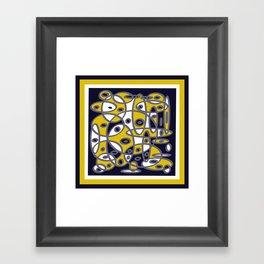 Yellow & Navy Abstract DPA150510 Framed Art Print