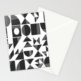 Shape and Line in Black and White Stationery Cards