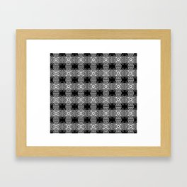 Abstract Patterned Glowing Cross Framed Art Print