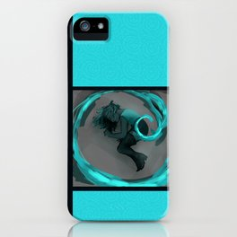 Girl in Spiral iPhone Case