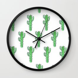 Saguaro Love II PATTERN Wall Clock