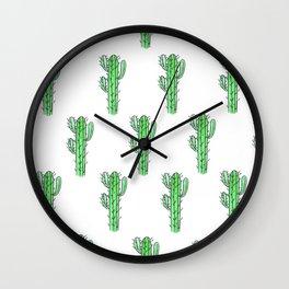 Saguaro Love II PATTERN Wall Clock