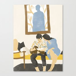You and me and the music Canvas Print