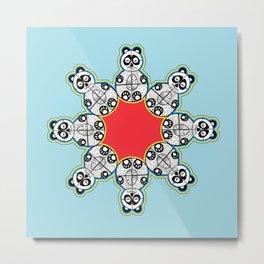 Panda Flake Metal Print