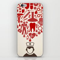 doctor iPhone & iPod Skins featuring Doctor by aleksander1