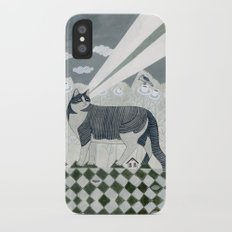 Beaming Cat iPhone X Slim Case