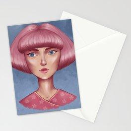 Pink bob Stationery Cards
