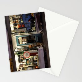 Local Shop at Night Stationery Cards