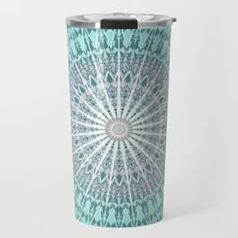 Teal Mandala Medallion Travel Mug