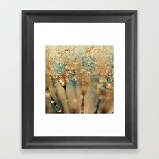 dandelion gold Framed Art Print