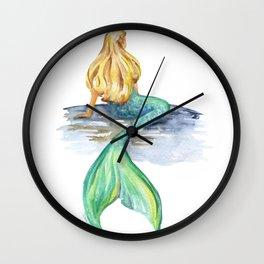 Mermaid Watercolor Wall Clock