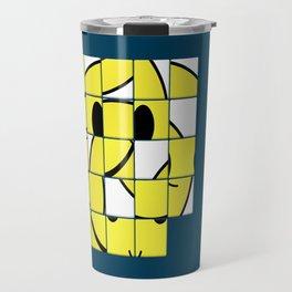 Acid Smiley Shuffle Puzzle Travel Mug