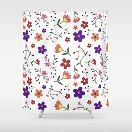 Cute Daisy Print Floral Gift  Shower Curtain
