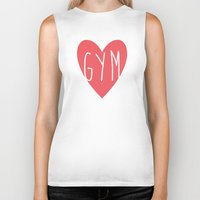 gym Biker Tanks featuring Gym  by design make create