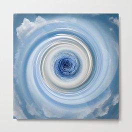 Blue swirl Metal Print
