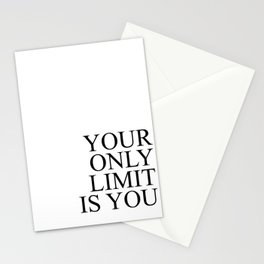 Your only limit is you #minimalism Stationery Cards