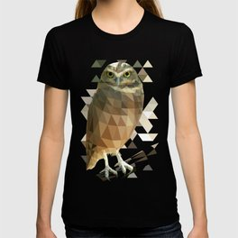 Burrowing Owl - Low Poly Technique T-shirt
