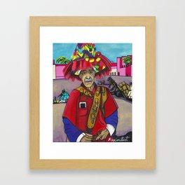"""""""Texte moi pour l'eau"""" Framed Art Print"""
