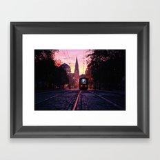 Sunrise Commute Framed Art Print