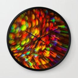 Rainbow Star Light Wall Clock