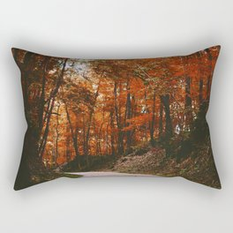 Autumn Trail (Color) Rectangular Pillow
