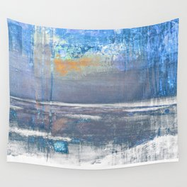 Blue Color Patches Wall Tapestry