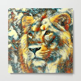 AnimalArt_Lion_20170606_by_JAMColorsSpecial Metal Print
