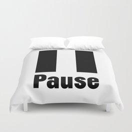 Pause Duvet Cover