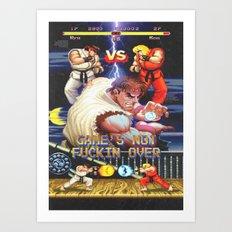 GAME'S NOT FUCKIN OVER! pt. 1 Art Print