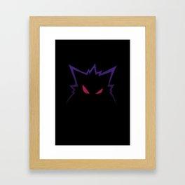 Gengar scary Framed Art Print