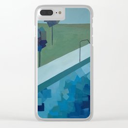 Dip Our Toes In Clear iPhone Case