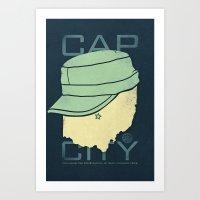 Cap City Art Print