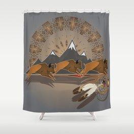 Native American Indian Buffalo Nation Shower Curtain